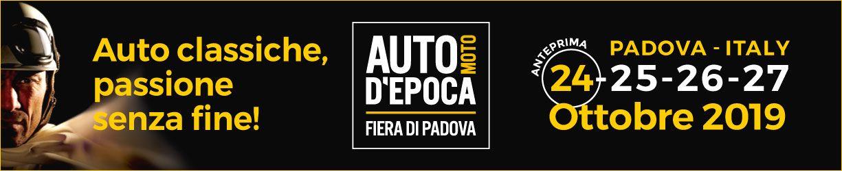 Fiera Auto Moto d'Epoca Padova OldCar24 - 24 25 26 27 ottobre 2019