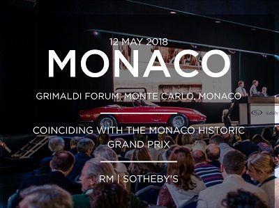 OldCar24 - Monaco Grimaldi Forum, Monte Carlo, Monaco  COINCIDING WITH THE MONACO HISTORIC GRAND PRIX  RM | SOTHEBY'S OLDCAR24