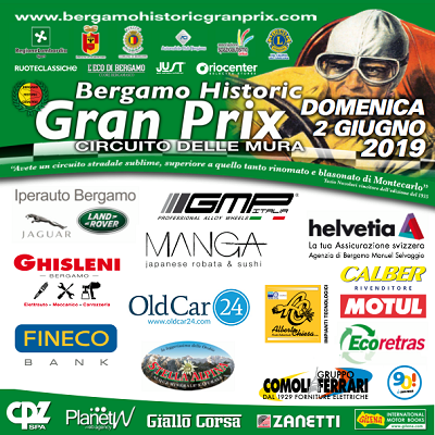 OldCar24 Partner of BERGAMO HISTORIC GRAN PRIX 2019