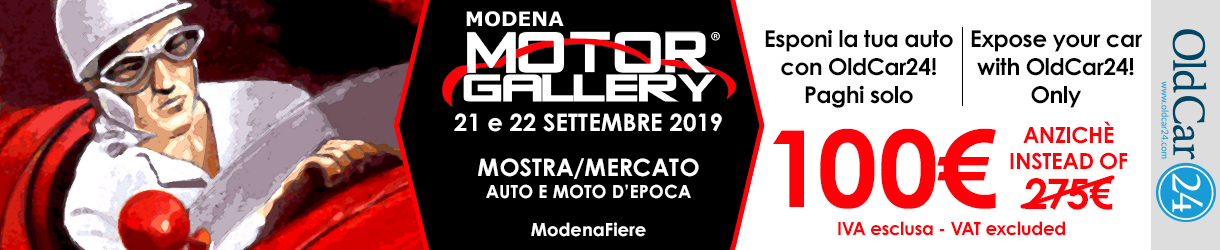 MODENA MOTOR GALLERY OLDCAR24 21 - 21 SETTEMBRE 2019