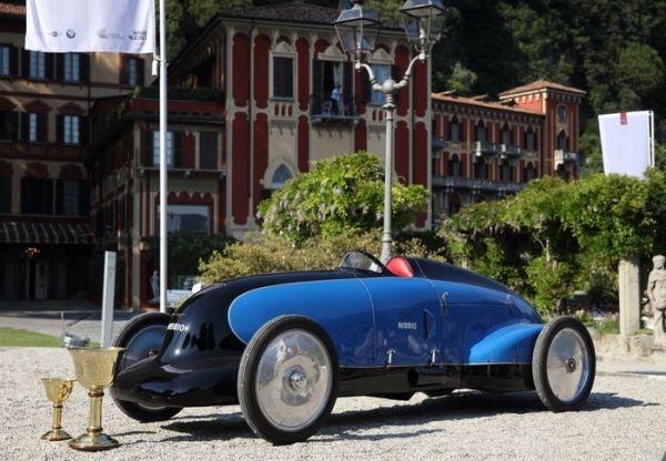 A Cernobbio il Concorso d'Eleganza Villa d'Este : la Lurani Nibbio vince la Coppa d'Oro