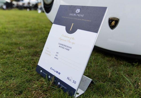 La Lamborghini Miura di Dallara conquista il 'Salon Prive'